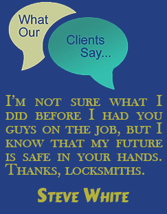 Locksmith Garland TX testmonials